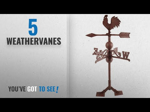 Top 10 Weathervanes [2018]: Fallen Fruits Cast Iron Rooster Weathervane