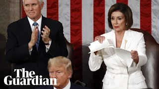 nancy-pelosi-rips-up-state-of-the-union-speech-after-donald-trump-snubs-handshake
