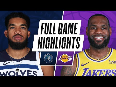 TIMBERWOLVES at LAKERS | FULL GAME HIGHLIGHTS | March 16, 2021