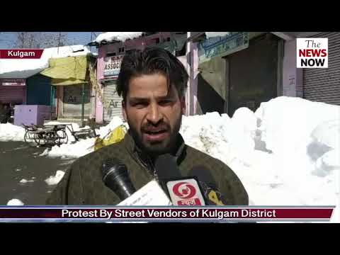 Protest By Street Vendors of Kulgam District