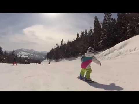 sara 5 years old snowboard kids 2014-15