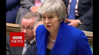 PM Theresa May addresses MPs - BBC News