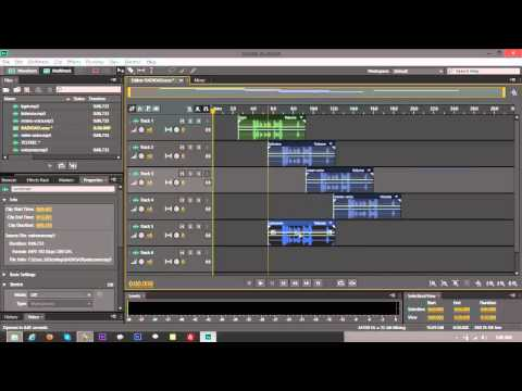 Mixdown - Adobe Audition CS6 Tutorial