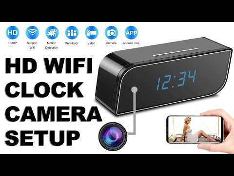 REVIEW : HD WiFi Spy Camera Alarm Clock 1080p Unboxing & Setup With HDMiniCam Android Application