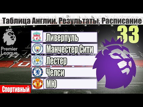 Ютуб видео футбол чемпионат англии турнирный таблица