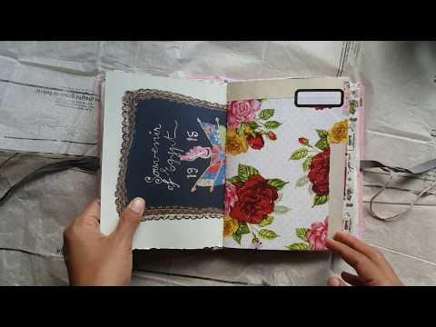 Feminine pink & yellow haberdashery junk journal flip through // Zee from Life in Analogue
