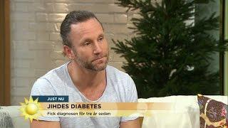 """Peter Jihde lyfter diabetes: """"Ska inte skämmas för det här!"""" - Nyhetsmorgon (TV4)"""