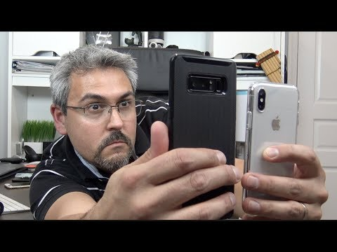 Thumbnail: iPhone X Face ID vs Galaxy Note 8 Face Recognition test Día y Noche