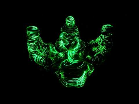 Light painting tutorial - How to draw a lightman