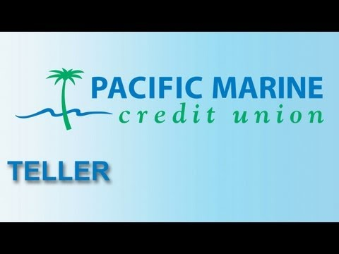 Working as a teller at Pacific Marine Credit Union