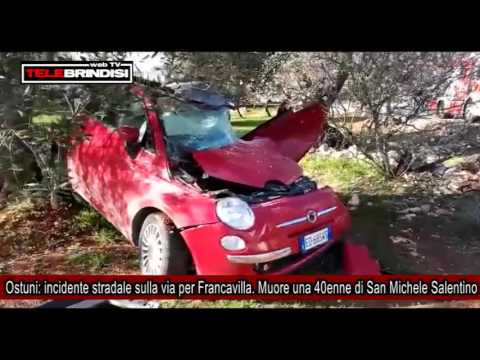 Ostuni, incidente stradale sulla via per Francavilla  Muore 40enne di San Michele Salentino
