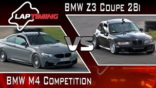 BMW M4 Competition vs. BMW Z3 Coupé 28i (LapTiming ep. 73)