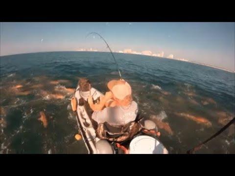 Offshore Kayak Fishing- BULL REDS EVERYWHERE