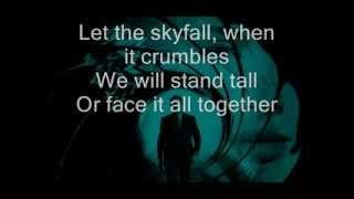 Video Adele   Skyfall Lyrics on screen download MP3, 3GP, MP4, WEBM, AVI, FLV Mei 2018