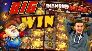 BIG WIN on Diamond Mine Slot - £10 Bet!