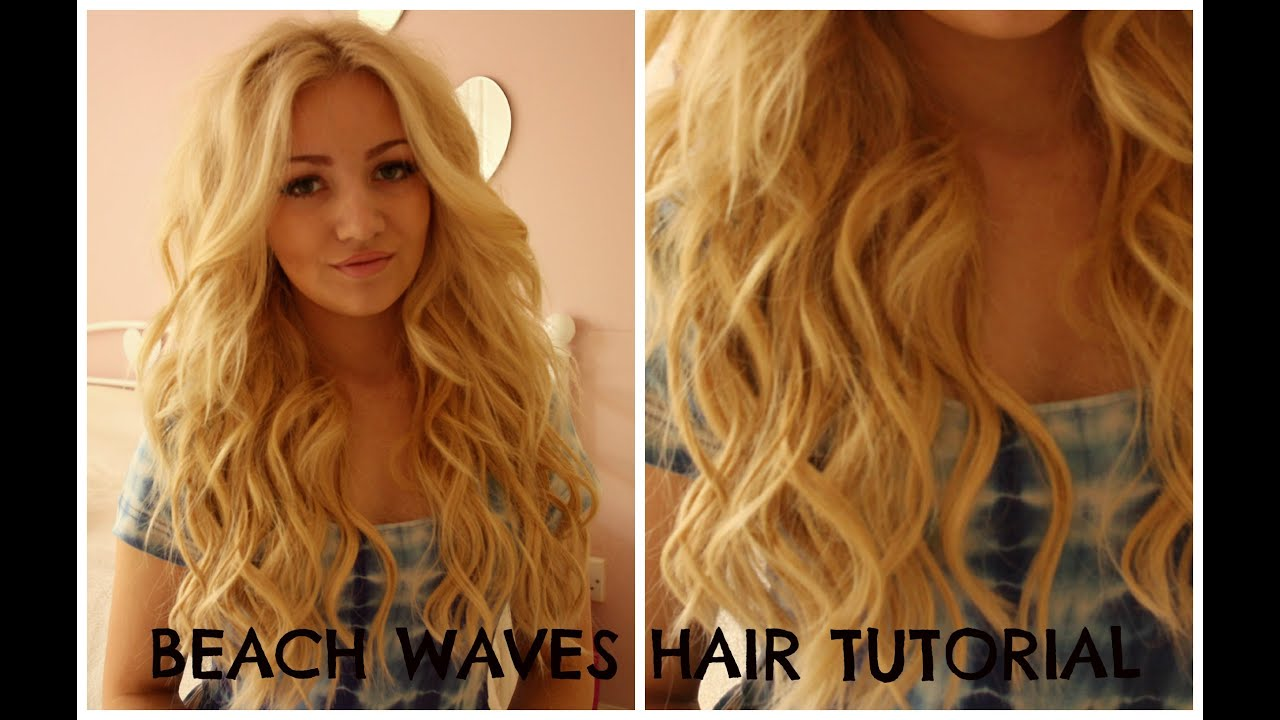 Beach Waves Hair Tutorial Curling Wand Perfect Victoria
