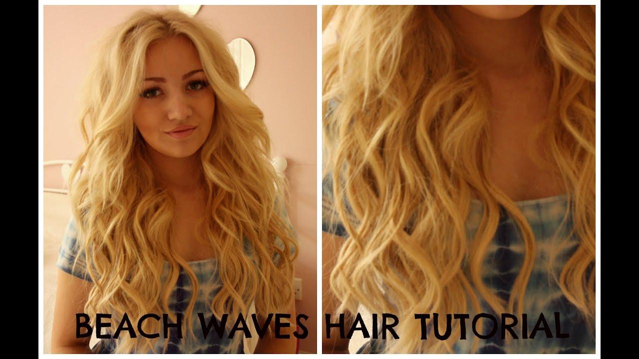 beach waves hair tutorial curling