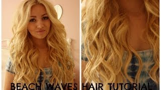 BEACH WAVES HAIR TUTORIAL / curling wand  PERFECT VICTORIA SECRET/HOLLISTER HAIR