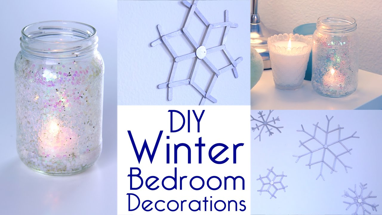 Room Decor: DIY Winter Bedroom Decorations Tutorial