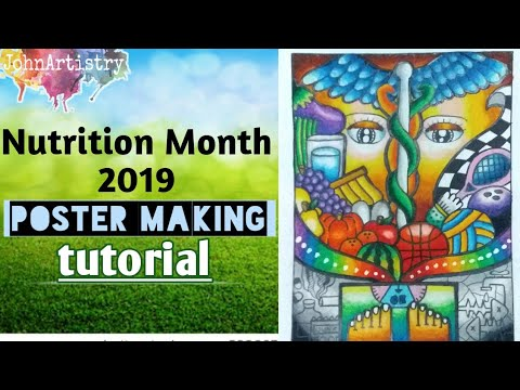 Nutrition Month 2019 Poster Making Tutorial