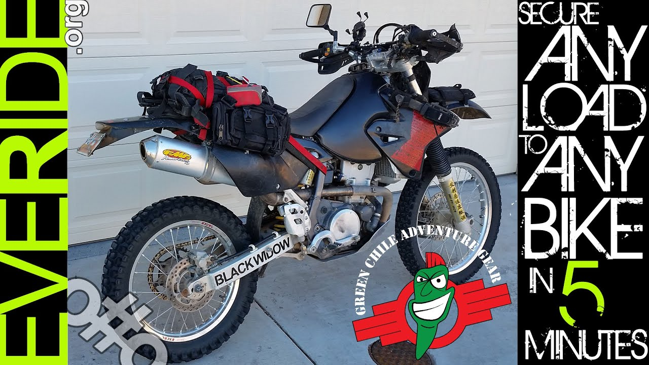 Strap ANY Load to ANY Motorcycle in Under 5 Minutes! o#o - YouTube