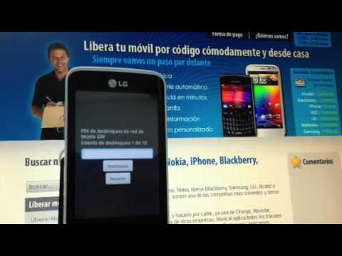 Liberar LG E510 Optimus HUB, desbloquear LG Optimus HUB de Yoigo Movical Net