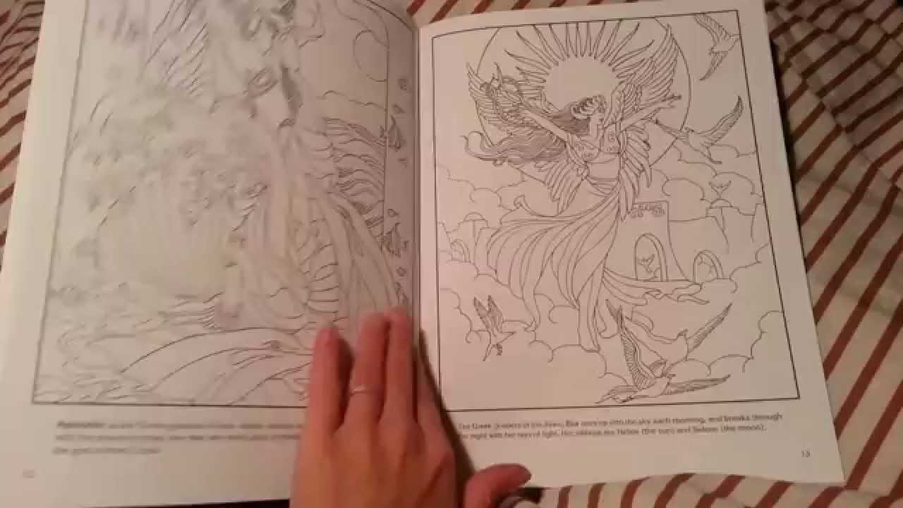 Goddesses Coloring Book - Dover Coloring Book - YouTube