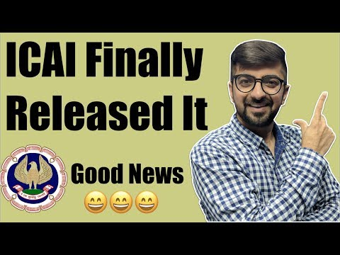 ICAI Finally  Released It  | And one good news is also there