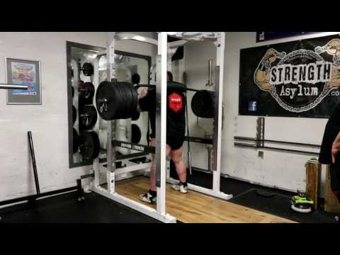 EDDIE HALL Squats 350kg for 3 reps with the Safety Squat Bar