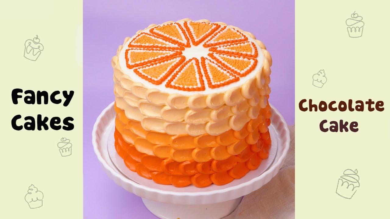Orange Cake Decorating Ideas #shorts