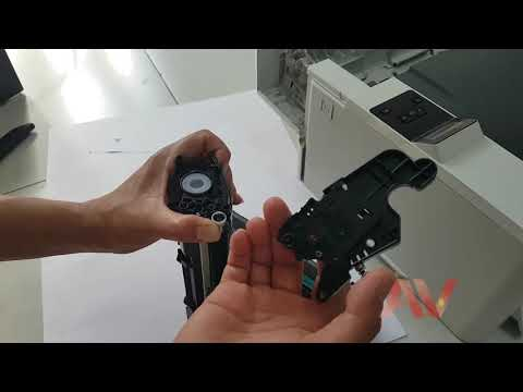 Instructions for ink replacement, Cleaning and refilling the CF226A Cartridge HP Pro M402dn printer