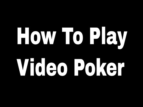 How To Play Video Poker -  Poker Tron TRX