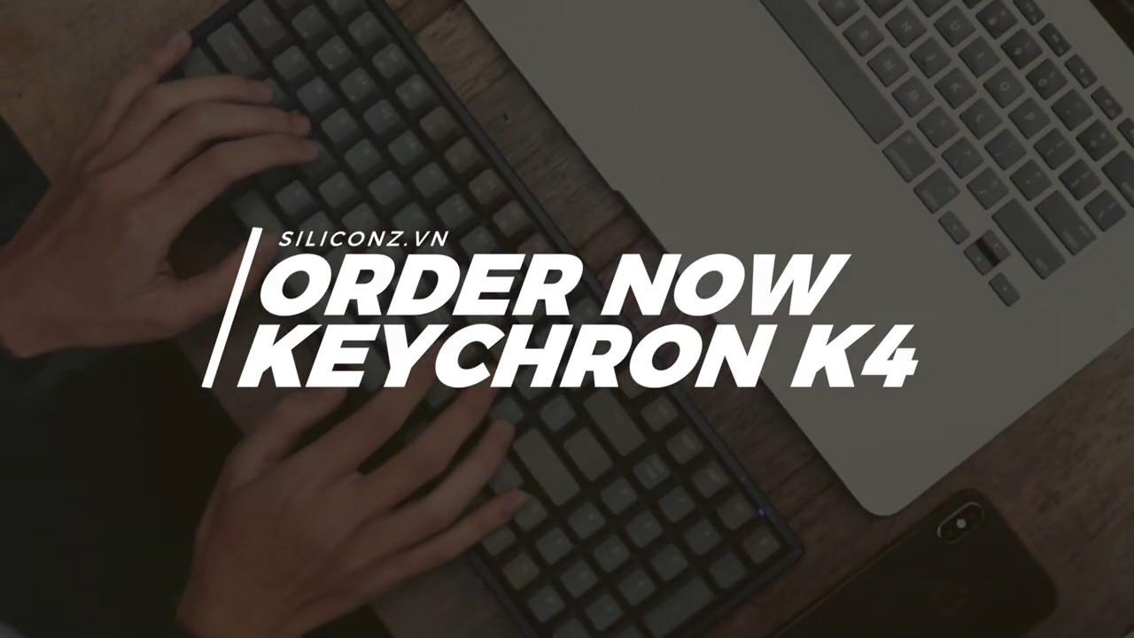 Keychron K4 – Bàn phím cơ không dây tốt nhất cho Macbook