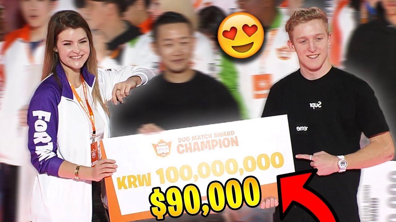 tfue kittyplays won the korean open duo tournament 90 000 fortnite highlights - korea open fortnite