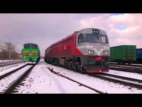 Container express train Minsk-Riga-Minsk 2018.02.05