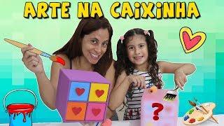 MÃE E FILHA BRINCANDO DE COLORIR CAIXAS ♥ MOMMY AND CHILDREN PRETEND PLAY COLORING BOX