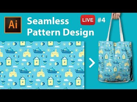 Pattern Design with Adobe Illustrator CC - LIVE stream #4