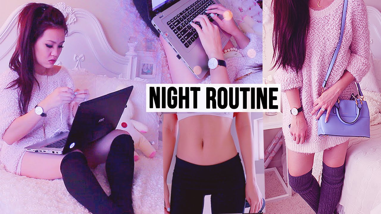 Weekend Night Routine ☾ Get Unready with Me! lilisimply ...
