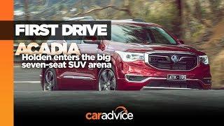 2019 Holden Acadia (GMC Acadia) review: Australian launch