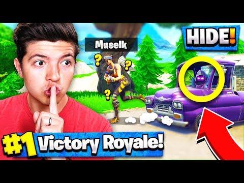 *NEW* HIDE & SEEK Custom Gamemode (Fortnite Battle Royale) with MUSELK!