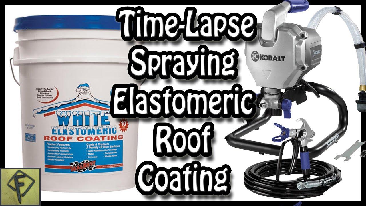 Timelapse - spraying SealBest Elastomeric Roof Coating Primos Truthcam 46