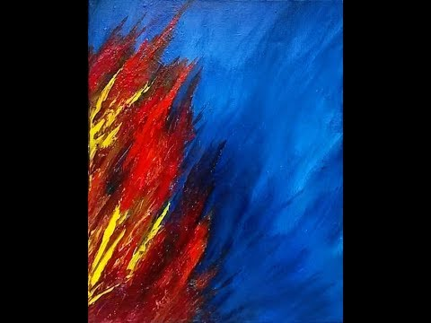 Coral Reef III – Oil Abstract Painting Lesson