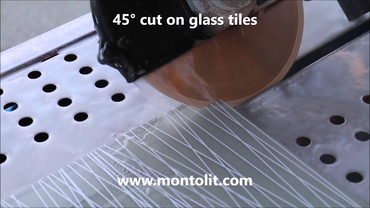 How To Make 45 Degrees Cut On Glass Tile Youtube