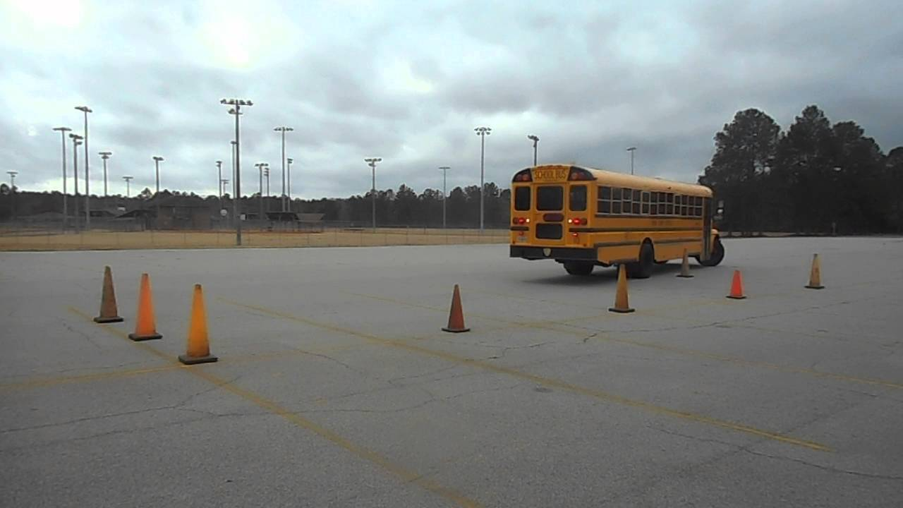 56  Skills  U2013 Parallel Parking    Service Door Side  U2013 Class B Cdl School Bus