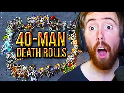 Asmongold ULTIMATE 40-MAN Death Roll Gambling Event - 5 Million Gold Prize