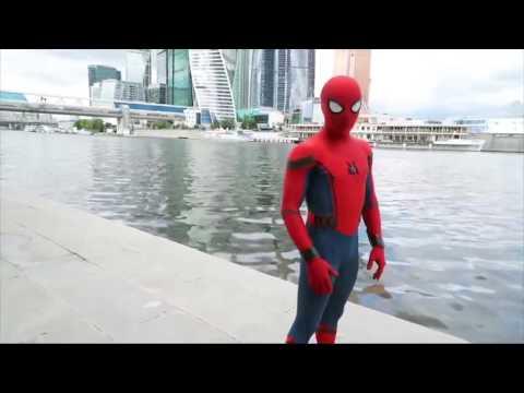 Человек паук в России.