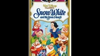 "Digitized closing to Snow White and the Seven Dwarfs w/ ""Making of..""(UK VHS)"