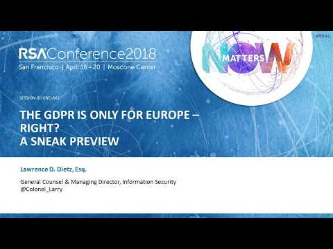 Quick Look: The GDPR Is Only for Europe—Right?
