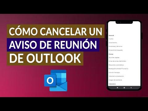 Cómo Cancelar un Aviso de Reunión de Outlook Fácil y Rápido