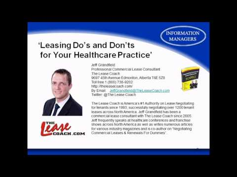 Leasing Do's and Don'ts for your Healthcare Practice